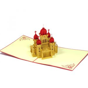 BD013-Red Castle- Birthday card- architecture 3D cards- Charm Pop- Germany (2)