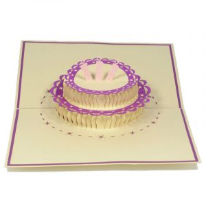 BG039-Birthday-Cake-pop up card- 3D card manufacture-Charm Pop (1)