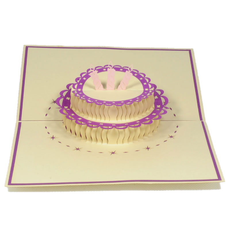 BG039-Birthday-Cake-pop up card- 3D card manufacture-Charm Pop (1)