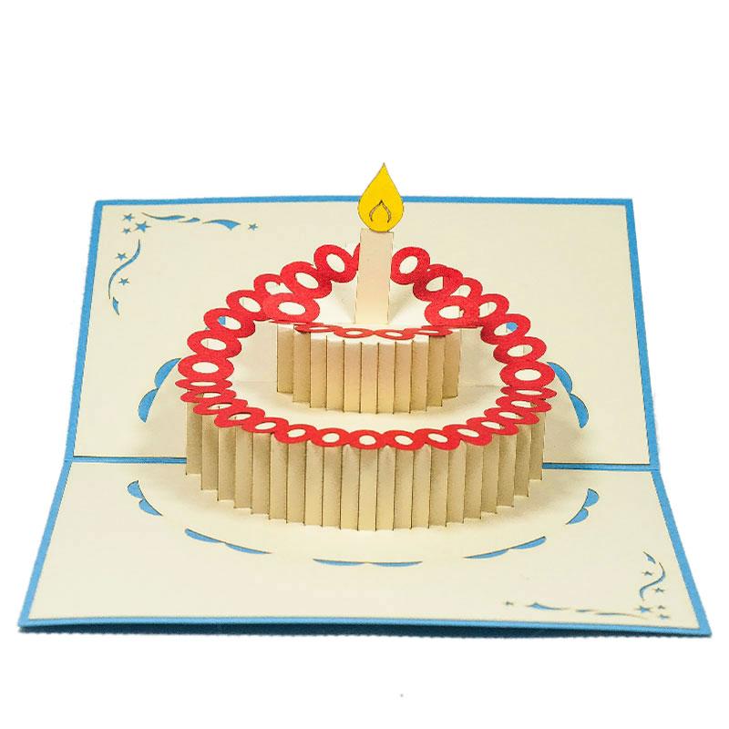 Birthday Cake pop up cardpop up card Custom cards wholsaleCharm Pop – Pop Up Birthday Cake Card