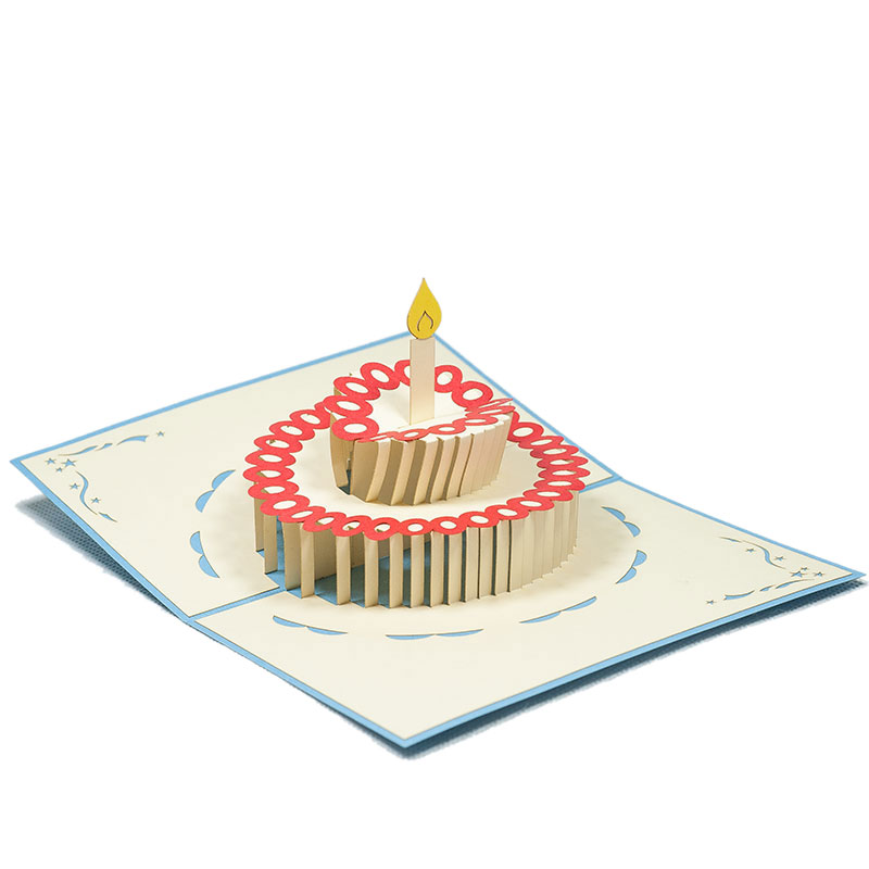 Birthday pop up card, kirigami 3D pop up card new design
