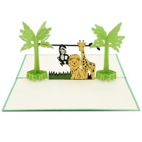 BG054- Birthday animal pop up card- 3D pop up greeting cards, Kirigami pop up card-paper cuting card-3d pop up laser cuting card, wholesale pop up cards-pop up cards manufacturer supplier (12)
