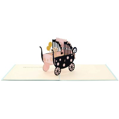 Baby carriage pop up card-pop up card manufacturer- pop up card wholesaler- kirigami card vietnam-CharmPop (1)