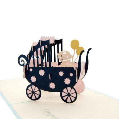 Baby carriage pop up card-pop up card manufacturer- pop up card wholesaler- kirigami card vietnam-CharmPop (2)