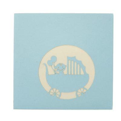 Baby carriage pop up card-pop up card manufacturer- pop up card wholesaler- kirigami card vietnam-CharmPop (3)