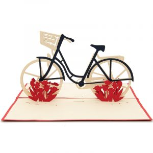 Bike custom pop up cards-3d greeting card supplier-origami card manufacturer-pop up card wholesale (1)