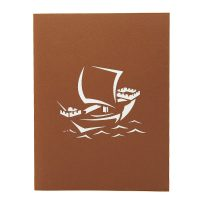 Boat custom pop up cards-3d greeting card supplier-origami card manufacturer-pop up card wholesale (1)