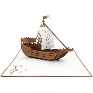 Boat custom pop up cards-3d greeting card supplier-origami card manufacturer-pop up card wholesale (3)
