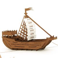 Boat custom pop up cards-3d greeting card supplier-origami card manufacturer-pop up card wholesale (5)