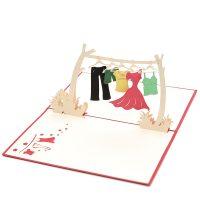 Clothes line pop up card- 3d greeting card manufacturer- custom design pop up cards-wholesaler vietnam (1)
