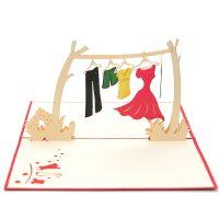 Clothes line pop up card- 3d greeting card manufacturer- custom design pop up cards-wholesaler vietnam (4)