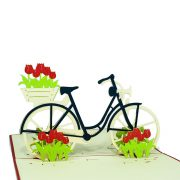 Customized-Bike-and-Tulips-design-pop-up-card-1