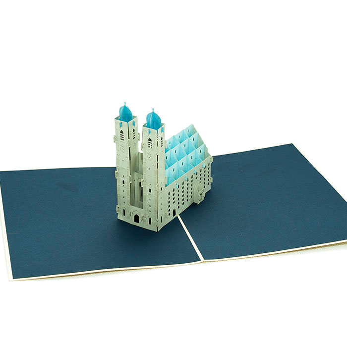 frauenkirche munich card custom 3d cards wholsale charm pop. Black Bedroom Furniture Sets. Home Design Ideas