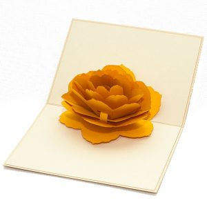 Customized-Yellow-Rose-flower-pop-up-card-new-design-3d-pop-up-card-manufacture-vietnam-Charm Pop (2)