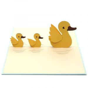 Duck mother pop up card- custom pop up cards-3d greeting card supplier-origami card manufacturer-pop up card wholesale (2)