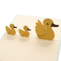 Duck mother pop up card- custom pop up cards-3d greeting card supplier-origami card manufacturer-pop up card wholesale (3)