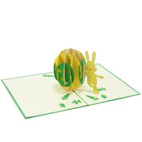 ES001- Easter bunny egg pop up card- 3D pop up greeting cards, Kirigami pop up card-paper cuting card-3d pop up laser cuting card, wholesale pop up cards-pop up cards manufacturer supplier (4)