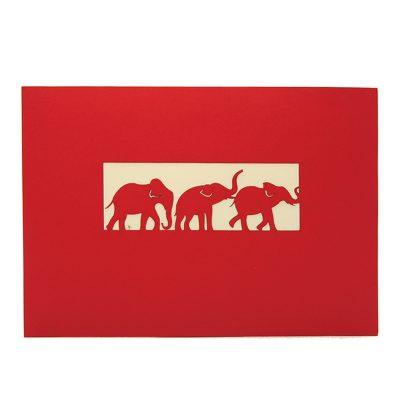 Elephant pop up card-pop up card manufacturer- pop up card wholesaler- kirigami card vietnam-CharmPop (2)
