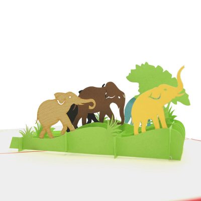 Elephant pop up card-pop up card manufacturer- pop up card wholesaler- kirigami card vietnam-CharmPop (4)