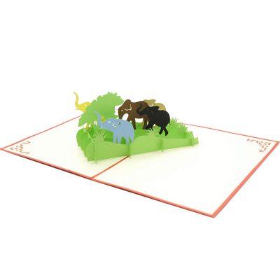 Elephant pop up card-pop up card manufacturer- pop up card wholesaler- kirigami card vietnam-CharmPop (5)