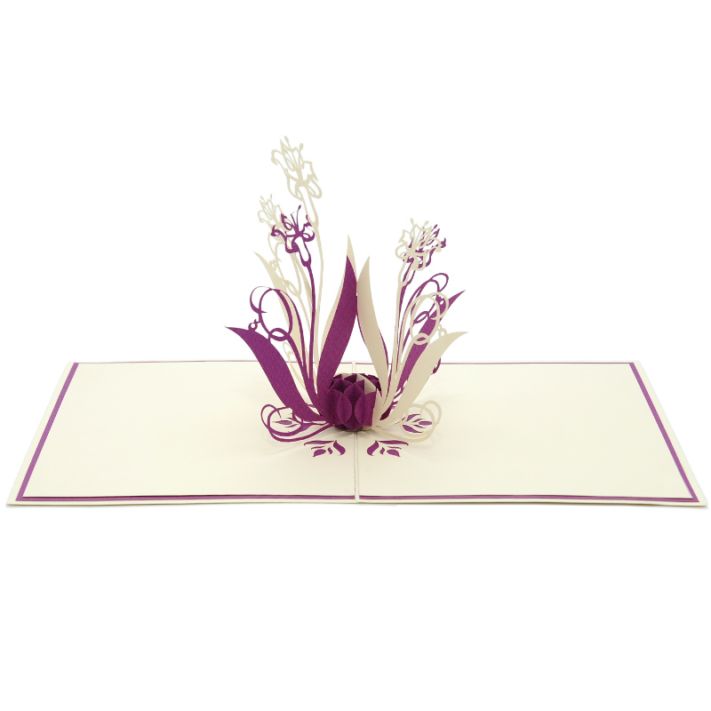 FL003-Cockscomb-Floral-3d-pop-up-card-manufacture-vietnam-kirigami greeting card wholesale (4)