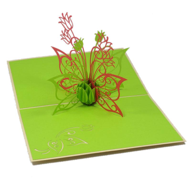 Summer Flower 3d Card Pop Up Flower Card 3d Greeting