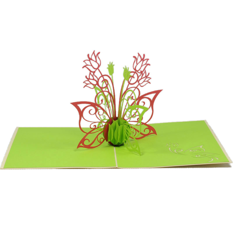 Summer flower 3d card pop up flower card 3d greeting card high fl012 floral in may 2 flower pop up m4hsunfo