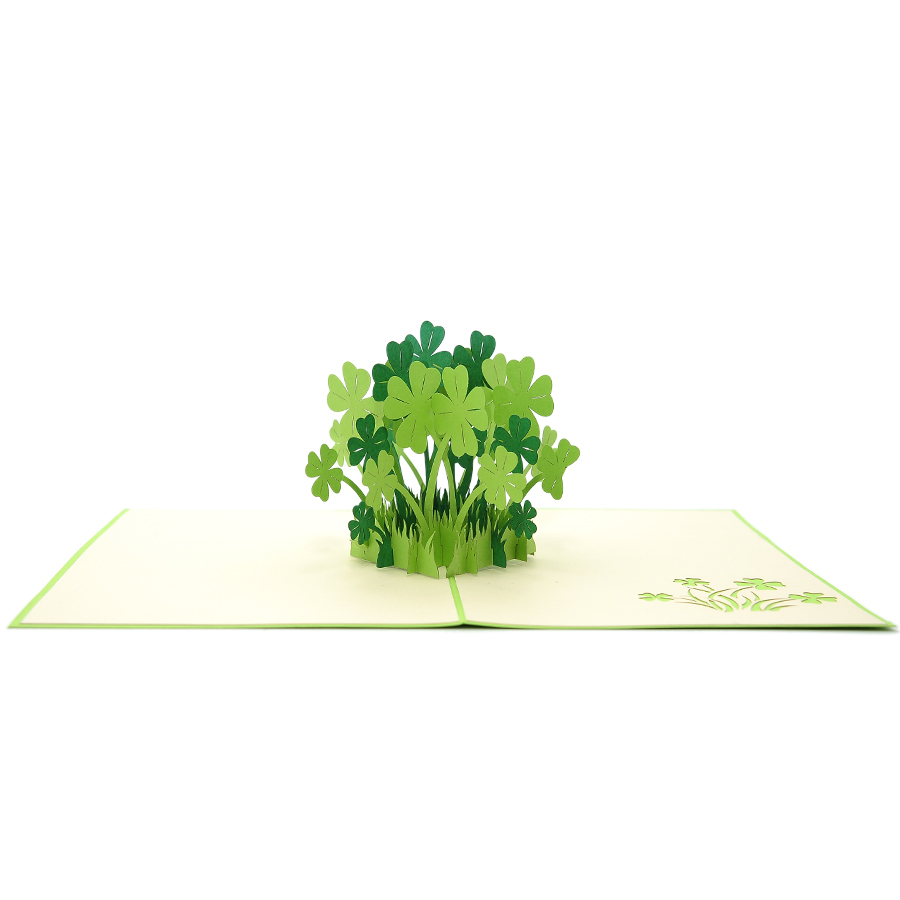 FL016-Lucky-Clover-Birthday-pop up card-3D-pop-up-card-wholesale-3d-Gift-pop-up-card-4-700×700.1