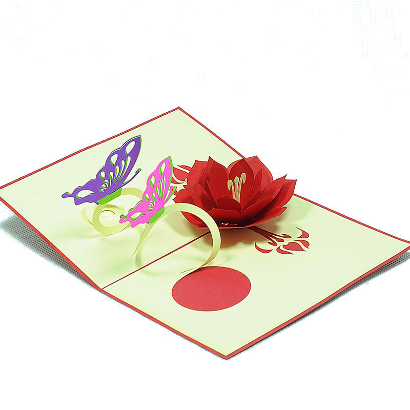 Butterfly flower pop up card custom new designs 3d greeting cards butterfly flower pop up card custom new designs 3d greeting cards wholesale flower pop up cards pop up card manufacturer m4hsunfo