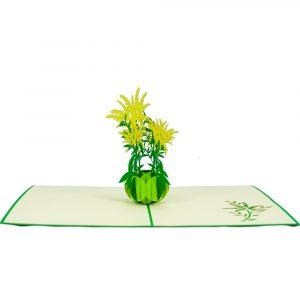 FL038 Solidago Bouquet- flower 3D card- charm pop card- Germany Vietnam (3)