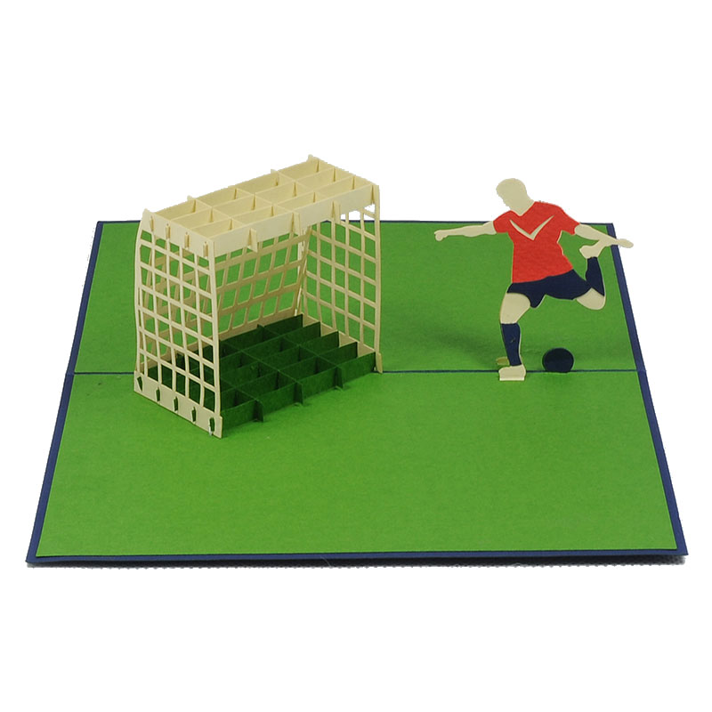 FS003-Footballer-sport 3D card-custom pop up card-Charm Pop (2)