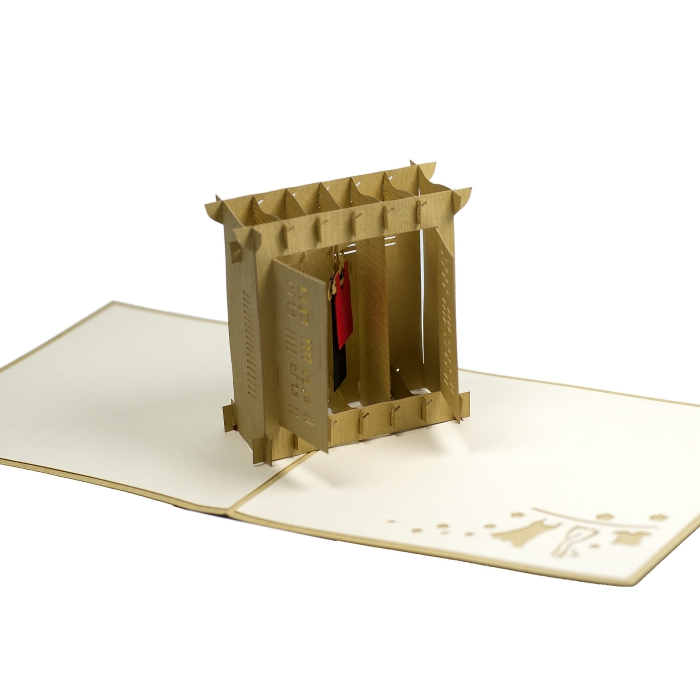 FS006-Wardrobe-girl 3D card- custom pop up card-Charm Pop (1)