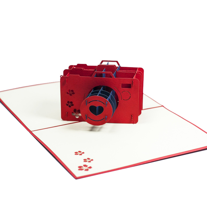 FS013-Camera-birthday 3D card- custom pop up card-Charm Pop (1)