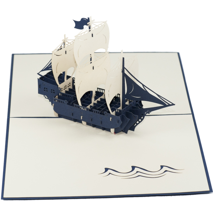 FS015-Boat-4-holiday 3D card- custom pop up card-Charm Pop (1)