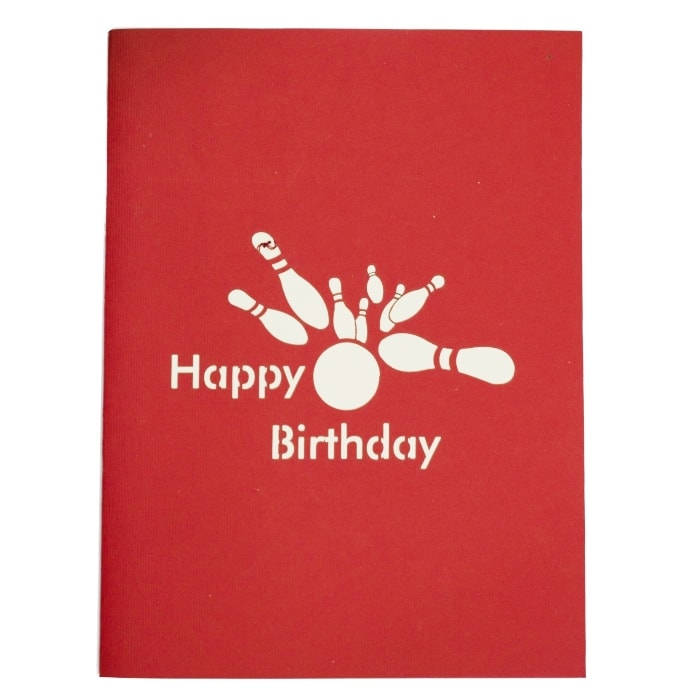 Bowling Pop Up Card Birthday Pop Up Cards 3d Greeting Card For Dad