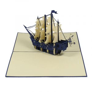FS041-Boat-6-friendship-3d-card-friendship-hanmade-card-nice-pop-up-card-Charm Pop (2)
