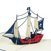 FS044-Private-Ship-2-Origami-3D-card-Birthday pop up card-Charm Pop (2)