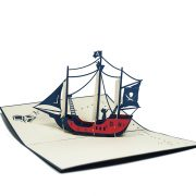 FS044-Private-Ship-2-Origami-3D-card-Birthday pop up card-Charm Pop (4)