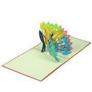 FS048-Peacok-2-New-pop-up-card-friendship-Popup-card-Birthday card-Charm Pop (1)