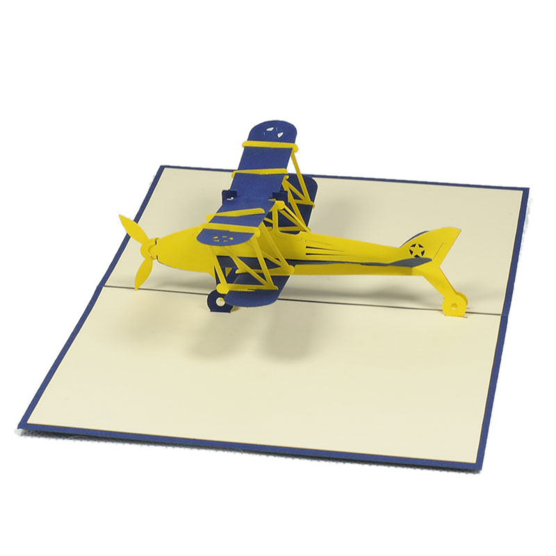 Finest Biplane pop up card-Girl custom 3D Card Supplier-pop up card  OG35