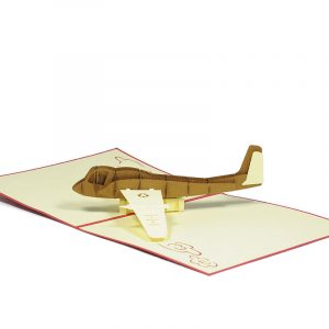 FS059-Airforce-new-pop-up-card-Birthday card-custom-design-Charm Pop (2)