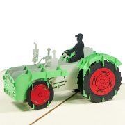 FS064-Tractor-pop-up-card-birthday-gift-card-3D custom card manufacture-Charm Pop (1)