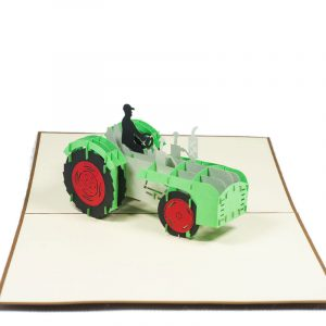 FS064-Tractor-pop-up-card-birthday-gift-card-3D custom card manufacture-Charm Pop (2)