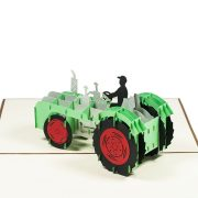FS064-Tractor-pop-up-card-birthday-gift-card-3D custom card manufacture-Charm Pop (3)