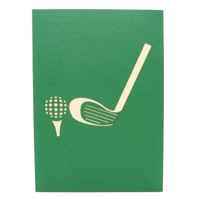 Golf Set pop up card-pop up card manufacturer- pop up card wholesaler- kirigami card vietnam-CharmPop (1)