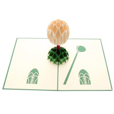 Golf Set pop up card-pop up card manufacturer- pop up card wholesaler- kirigami card vietnam-CharmPop (4)