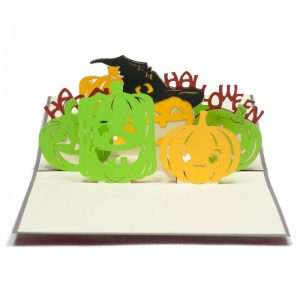 HW003-Pumbkins-pop up card-3D custom card-Charm Pop (3)