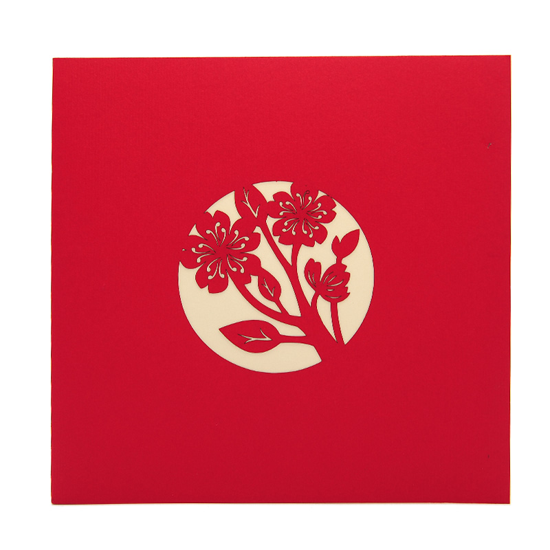 Spring Love pop up card, love 3d greeting card wholesale, custom wedding pop up card-love pop up card