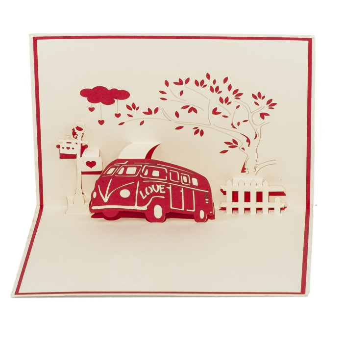 LV029-Love-Bus-Pop-up-card-Love card-Custom-design-3D-card-Charm Pop (1)