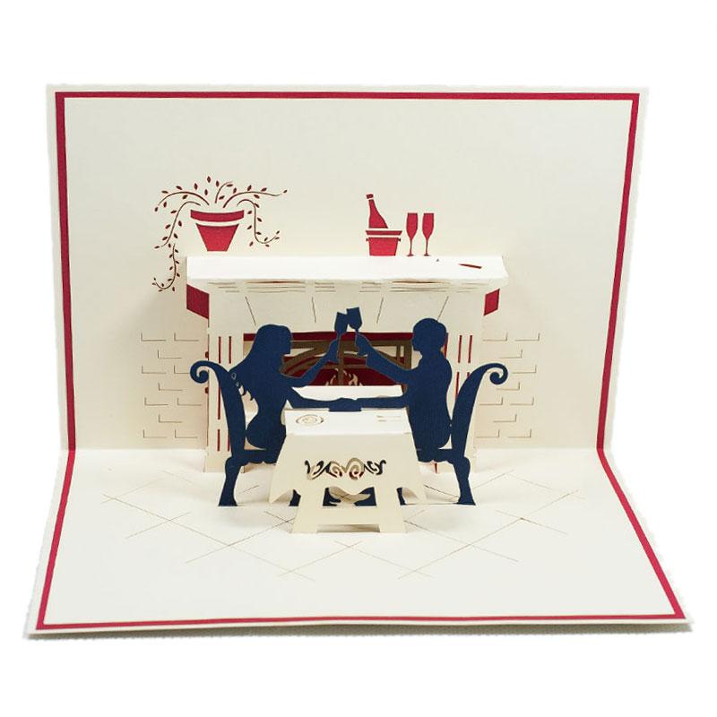 LV032-Dinner-couple-Design-Pop-up-card-Love card-Custom-design-3D-card-Charm Pop (4)